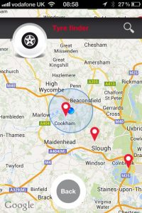 Hitachi Capital app - Tyre finder service